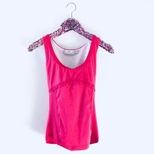 Adidas x Stella McCartney pink training tank